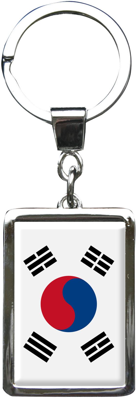 PORTACHIAVI in metallo//Bandiera Sud Corea